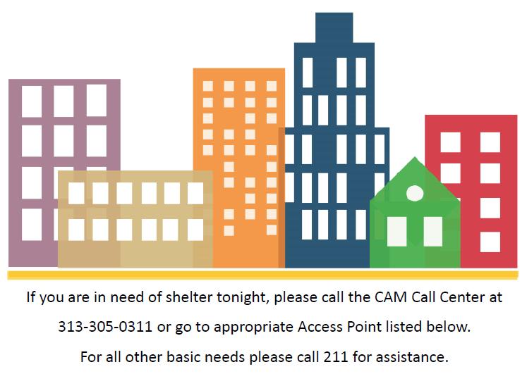 Shelters & Transitional Housing - CAM Detroit